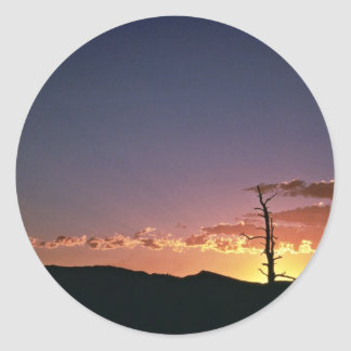 Sunset at Flaming Gorge in Utah Stickers
