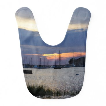 Sunset At Folly Harbor Bib
