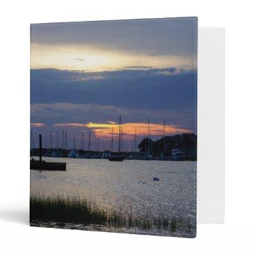 Sunset At Folly Harbor Binder