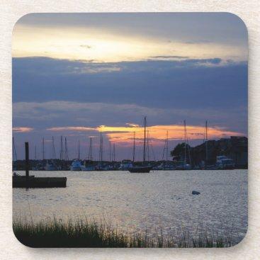 Sunset At Folly Harbor Coaster