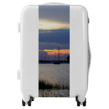 Sunset At Folly Harbor Luggage