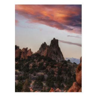 Sunset at Garden of the Gods Postcard