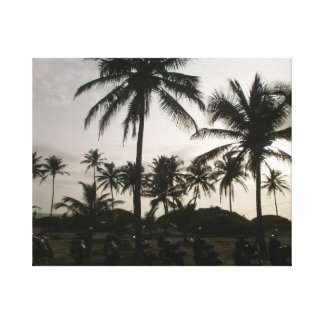 Sunset at Goa Beach in India Gallery Wrap Canvas
