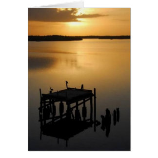 Sunset at Goodland Bay, Marco Island, Florida Card