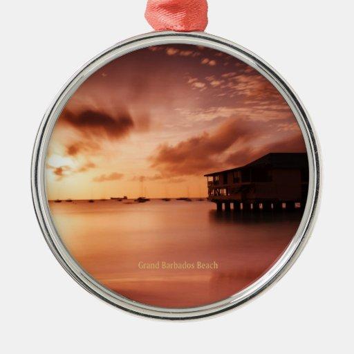 Sunset at Grand Barbados Beach Ornament
