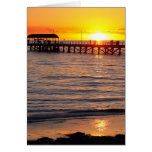 Sunset at Grange Beach and Jetty, Australia Greeting Cards