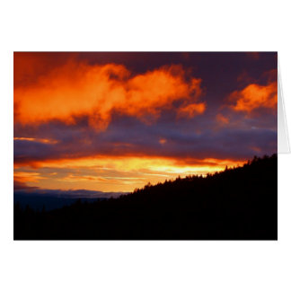 Sunset At Grants Pass 2 Card