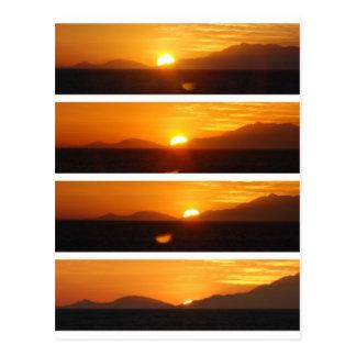 Sunset at Great Barrier Reef Australia Postcard