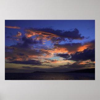 Sunset at Hawaii Kai Poster