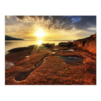 Sunset at Honeymoon Bay, Tasmania Postcard