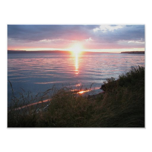 Sunset at Hood Canal Poster