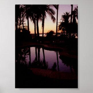 Sunset at Hotel La Posada de Engelbert Poster