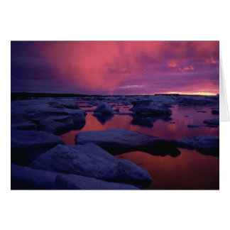 Sunset at Hudson Bay, Canada Card