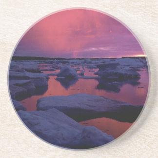 Sunset at Hudson Bay, Canada Drink Coaster