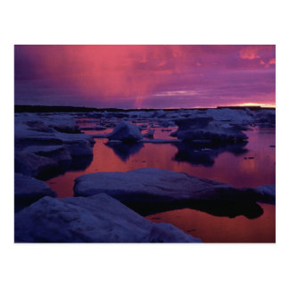 Sunset at Hudson Bay, Canada Postcard