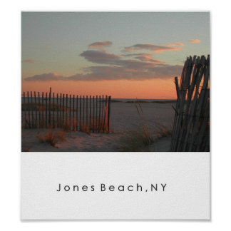 Sunset at Jones Beach Poster