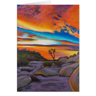Sunset at Joshua Tree Card