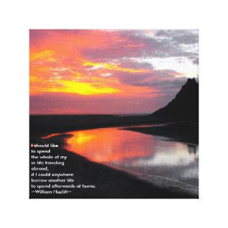 Sunset at Karekare Lagune Canvas Print