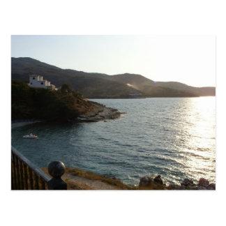 Sunset at Kassiopi, Corfu (Greece) Postcard