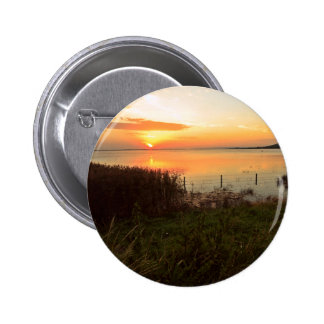 Sunset at Kidwelly Quay Pinback Button