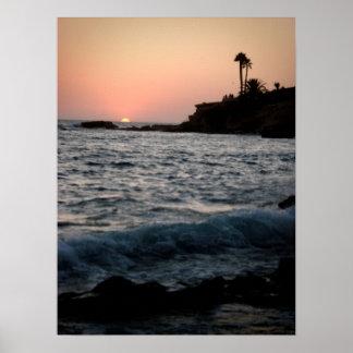 Sunset at Laguna Poster