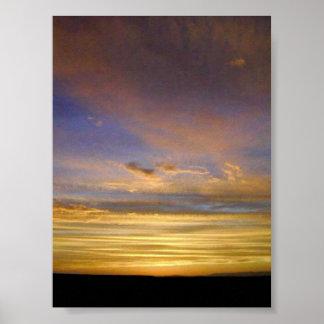Sunset at Laguna San Ignacio Poster