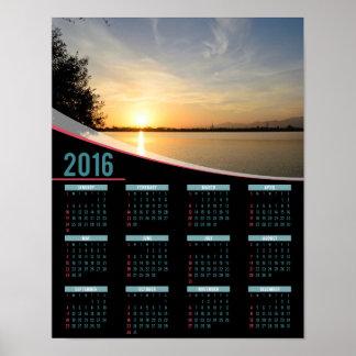 Sunset at lake 2016 poster calendar