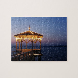 Sunset at Lake Constance in Bregenz - Puzzle