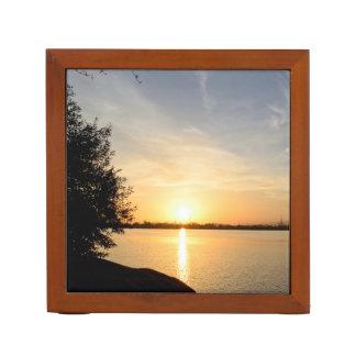 Sunset at lake desk organizer