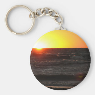 Sunset at Lake Erie Keychain