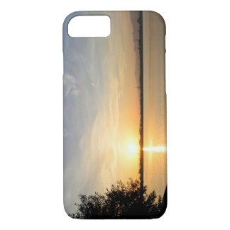 Sunset at lake iPhone 8/7 case