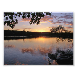 Sunset at Lake St George Maine Photograph