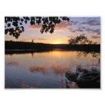 Sunset at Lake St. George, Maine Photograph