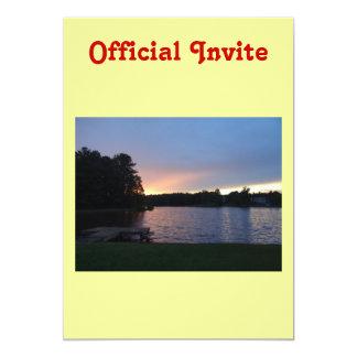 Sunset at Lake Swan, Paulding, Georgia Card