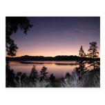 Sunset at Lake Tahoe Postcard