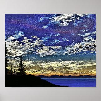 Sunset at Lake Tahoe Poster
