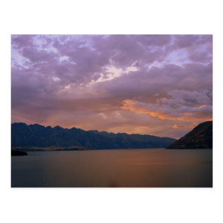 Sunset at Lake Wakatipu, Queenstown, NZ Postcard