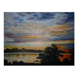 Sunset at Lakeshore Postcard