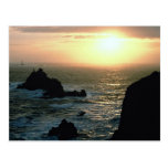 Sunset at Land's End at the Cornish Riviera Postcard