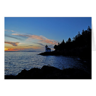 Sunset at Lime Kiln Pt State Park Card