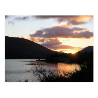 Sunset at loch earn postcard