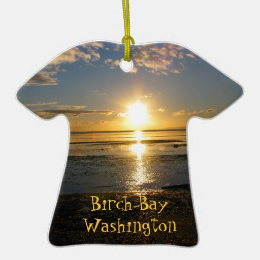 Sunset At Low Tide Christmas Tree Ornament