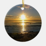 Sunset At Low Tide Christmas Tree Ornaments