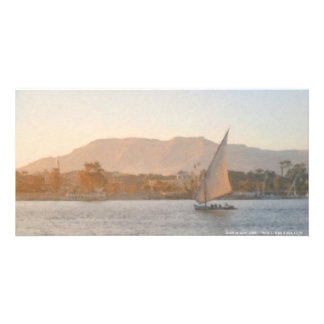 Sunset at Luxor Photo Card