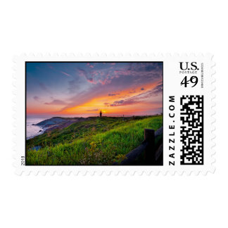 Sunset at Martha's Vineyard Postage Stamp