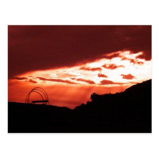sunset at Medora Postcard