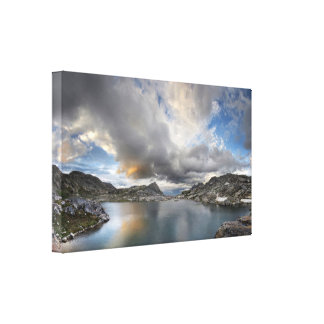 Sunset at Middle Nydiver Lake - Sierra Canvas Print