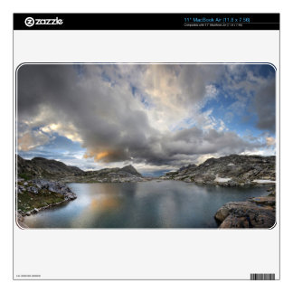 Sunset at Middle Nydiver Lake - Sierra Skins For The MacBook Air