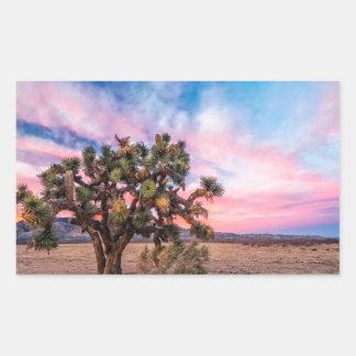 Sunset at Mojave Rectangular Stickers