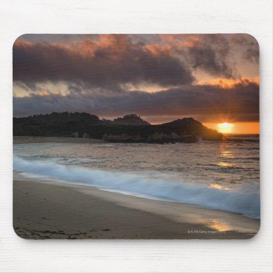Sunset at Monastery Beach, Carmel, California, Mouse Pad